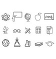 education linear icon set vector image