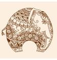 Henna mehndi decorated Indian Elephant vector image
