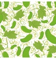 Seamless pattern cucumbers vector image