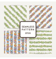 Set of doodle seamless patterns with various vector image