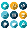 Set of Stray Dogs Icons Pooch Search vector image