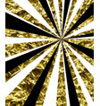 abstract background with golden rays vector image vector image