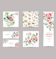 fine collection of greeting cards with fancy vector image vector image