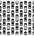 black and white police cars seamless pattern vector image