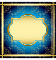 blue and gold vintage card vector image vector image