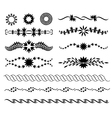 set of graphic floral design elements vector image