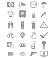 Gray guard icons set vector image vector image