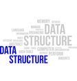 word cloud data structure vector image