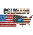 USA state of Colorado on a brick wall vector image
