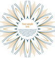 sun floral round textual frame vector image vector image