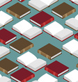 Book Isometric seamless pattern Red and green vector image
