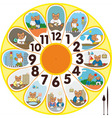 Clock Cat Schoolchild vector image