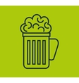 fresh beer isolated icon vector image