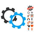gears icon with dating bonus vector image