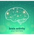 Human brain activity vector image