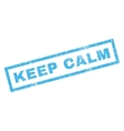 Keep Calm Rubber Stamp vector image