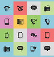 set of 16 editable communication icons includes vector image
