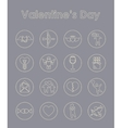 Set of Valentines Day simple icons vector image
