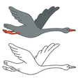 Soaring goose vector image