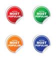 sticker of most popular vector image