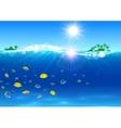 Summer travel Paradise island banner vector image