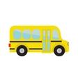 Yellow school bus kids Cartoon clipart vector image