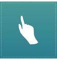 cursor hand icon vector image vector image
