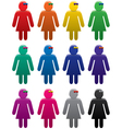 woman symbols vector image