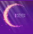 half of the moon from gold glittering star dust on vector image vector image