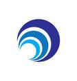 abstract circle layer logo image vector image