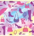 fashion aaccessory shoes seamless pattern season vector image