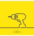 Hand screwdriver vector image