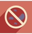 Flat with shadow icon and mobile application Petri vector image