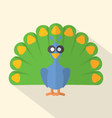Flat Design Peacock Icon vector image