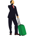travelling business vector image vector image