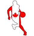 basketball colors of Canada vector image vector image