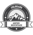 Aspen Colorado - mountain peak round stamp vector image