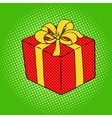 Box with gift pop art style vector image
