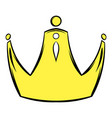 golden crown icon cartoon vector image