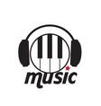 music headphone piano keys background image vector image