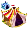 Open a festive circus tent isolated vector image