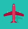 plane or airplane in the sky in flat style vector image