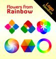 rainbow flowers vector image