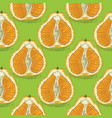 seamless pattern with orange tangelo vector image