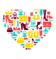 Shopping heart vector image
