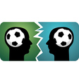 Soccer brains vector image