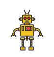 robot cool flat line  concept vector image