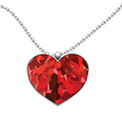 Valentines Day heart pendant isolated on white vector image