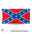 Flag of Confederate states of America vector image