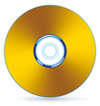 Gold CD vector image vector image